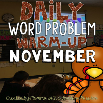 Word Problem Warm-Up November  1.OA.1