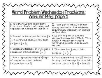 Word Problem Wednesday: Fractions Edition