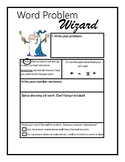 Word Problem Wizard- Format for Word Problems