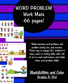 Word Problem Work Mats for Problem Solving Skills