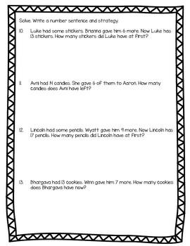 Word Problem Worksheet