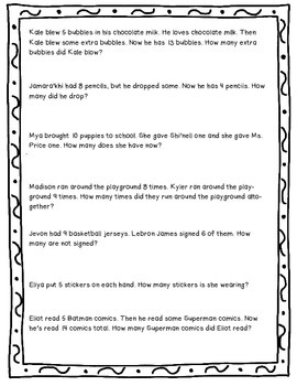 Word Problem Worksheet