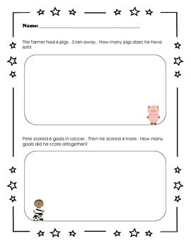 Word Problem Worksheet (Addition, Subtraction, & Combination Problems)