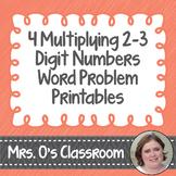4 Multiplying 2 and 3-Digit Numbers Word Problem Worksheet