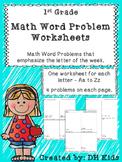 Word Problem Worksheets - 1st Grade