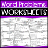 Word Problem Worksheets: Addition & Subtraction: Missing Addends, Comparing #'s+