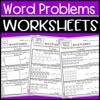 Word Problem Worksheets Addition Subtraction Missing Addends