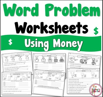 Word Problem Worksheets using Money