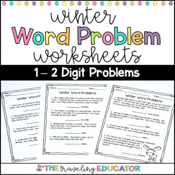 Word Problem Worksheets with a Winter Theme