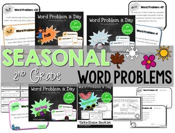 Word Problem a Day - 2nd Grade (Bundle)