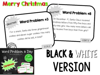 Word Problem a Day - 2nd Grade (Christmas)