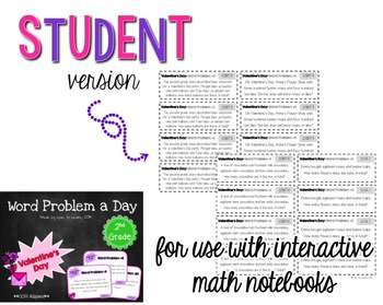 Word Problem a Day - 2nd Grade (Valentine's Day)