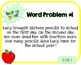 Word Problem a Day - 3rd Grade (Back to School)