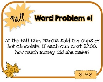 Word Problem a Day - 3rd Grade (Fall)