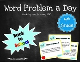 Word Problem a Day - 4th Grade (Back to School)