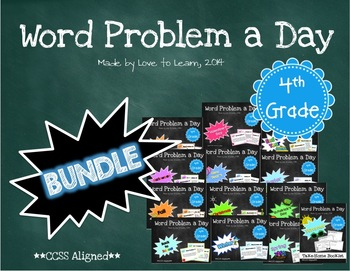 Word Problem a Day - 4th Grade (Bundle)
