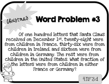 Word Problem a Day - 4th Grade (Christmas)