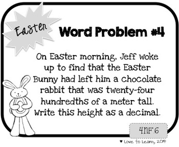 Word Problem a Day - 4th Grade (Easter)