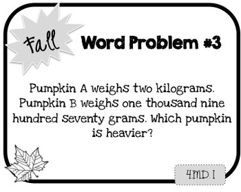 Word Problem a Day - 4th Grade (Fall)