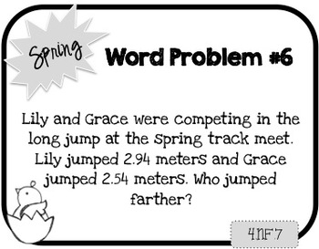 Word Problem a Day - 4th Grade (Spring)