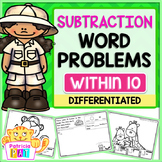 Subtraction Word Problems for Kindergarten within 10