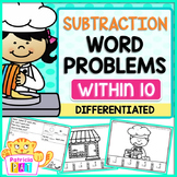 Subtraction Word Problems Kindergarten