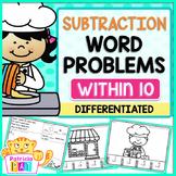 Subtraction Word Problems Kindergarten