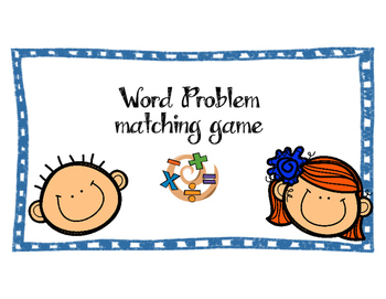 Word Problem matching game
