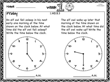 Word Problems 1st Grade, October