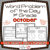 Word Problems 1st Grade, October