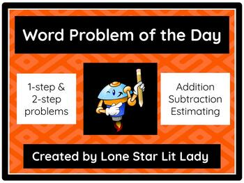 Word Problem of the Day: Addition and Subtraction