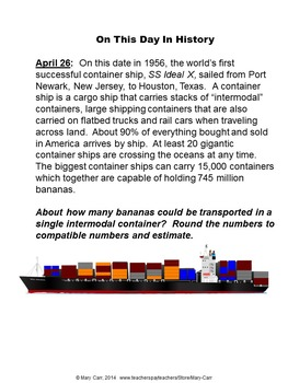 Word Problem of the Day - April - Intermediate Level