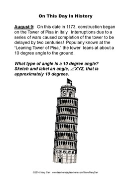 Word Problem of the Day - August - Intermediate Level