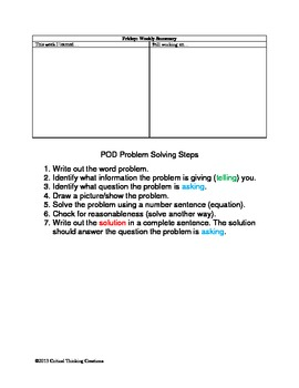 Word Problem of the Day Chart