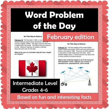 Word Problem of the Day - February - Intermediate Level