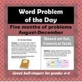 Word Problem of the Day - Five Month Bundle, August - December