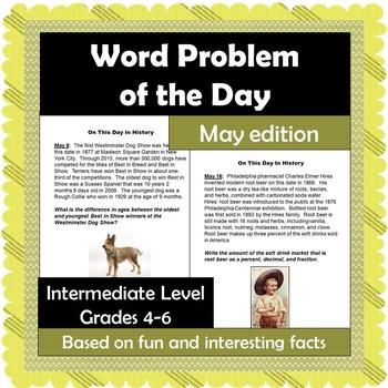 Word Problem of the Day - May - Intermediate Level