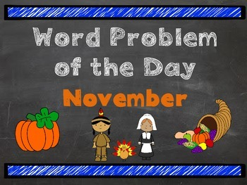 Word Problem of the Day-November