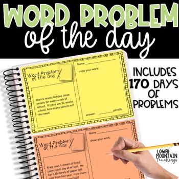 Word Problem of the Day - Paper and Digital Use!!