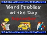 3rd Grade Common Core Word Problem of the Day:  September