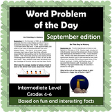Word Problem of the Day - September - Intermediate Level