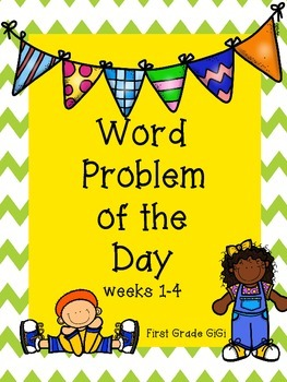 Word Problem of the Day Weeks 1-4