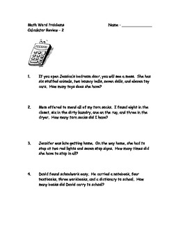 Word Problem/Calculator Practice 2nd/3rd