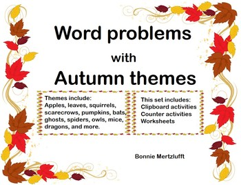Autumn/Fall Themed Word Problems