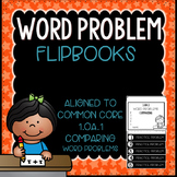 Word Problems 1.OA.1 COMPARING Mini Flip Book Foldable