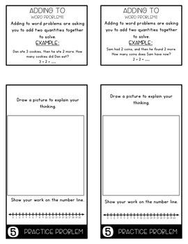 Word Problems 1.OA.1 Bundle Mini Flip Book Foldable