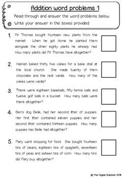 Maths Word Problems – 10+ printables