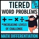Tiered Word Problems for Math Differentiation (Ninjas Set)
