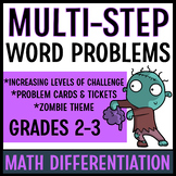 Multistep Word Problems (Tiered Problem Cards)