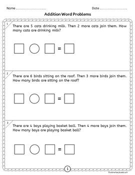 Addition and Subtraction Word Problems with No Regrouping